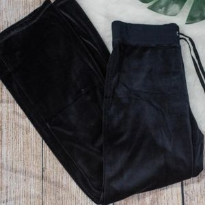 Nwt Jones NY Sport black velour pants size Lg $69